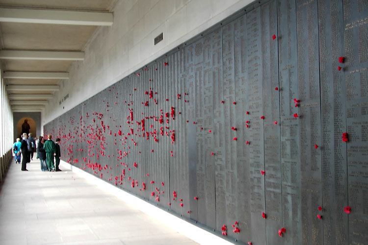 Mohnblumen im Australian War Memorial, Canberra