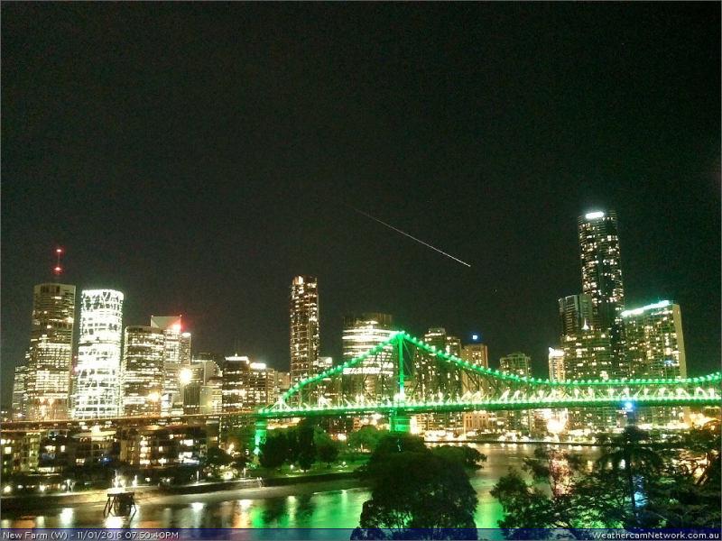 Meteor über Brisbane