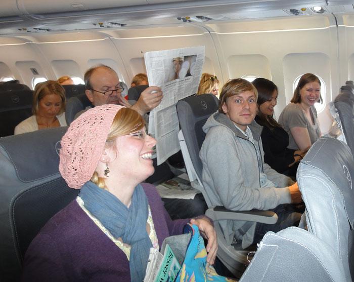 Auf dem Flug nach München