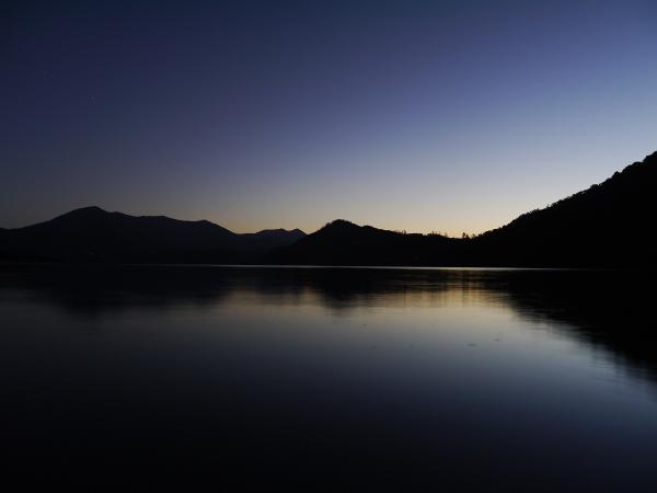 Abendhimmel an der Küste