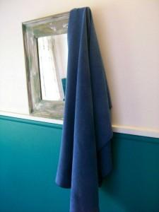 ... und auch wenn es man mal keine Wäscheleine gibt, ist mein Handtuch schnell trocken
