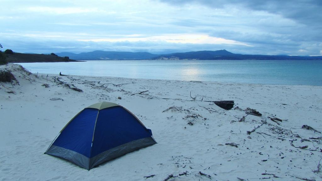 Camping auf Maria Island (TAS) - Copyright Laura Kluth