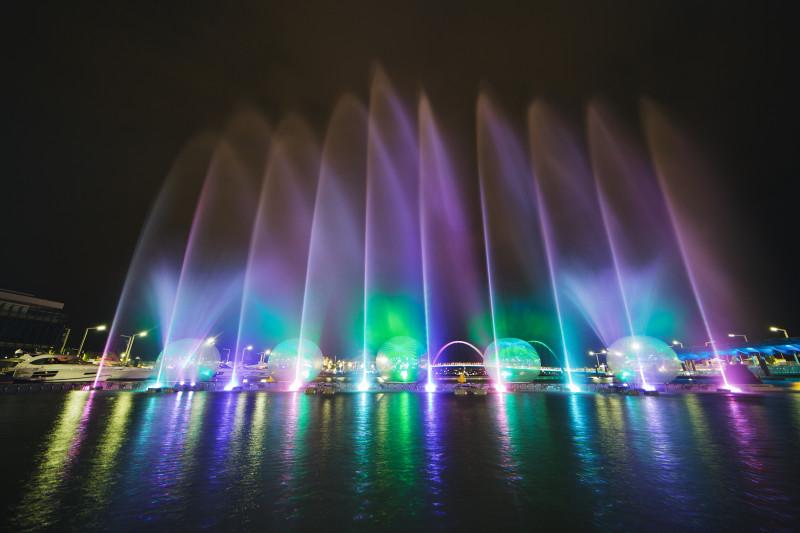 Die Laser- und Lichtshow am Elizabeth Quay