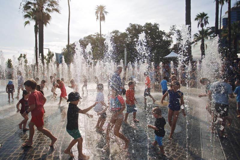 Der Brunnen ist für Kinder sicherlich ein großes Highlight