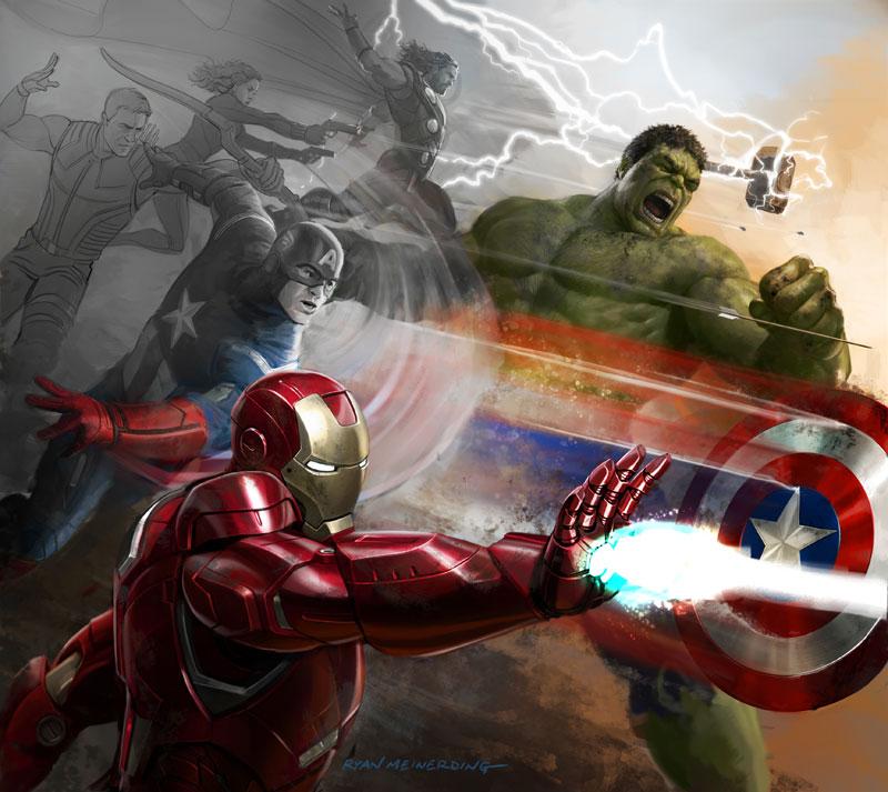 Marvel Ryan Meinerding - Keyframe For The Avengers
