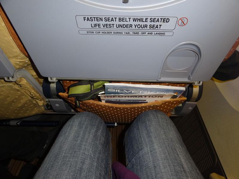 Im Flugzeugsitz