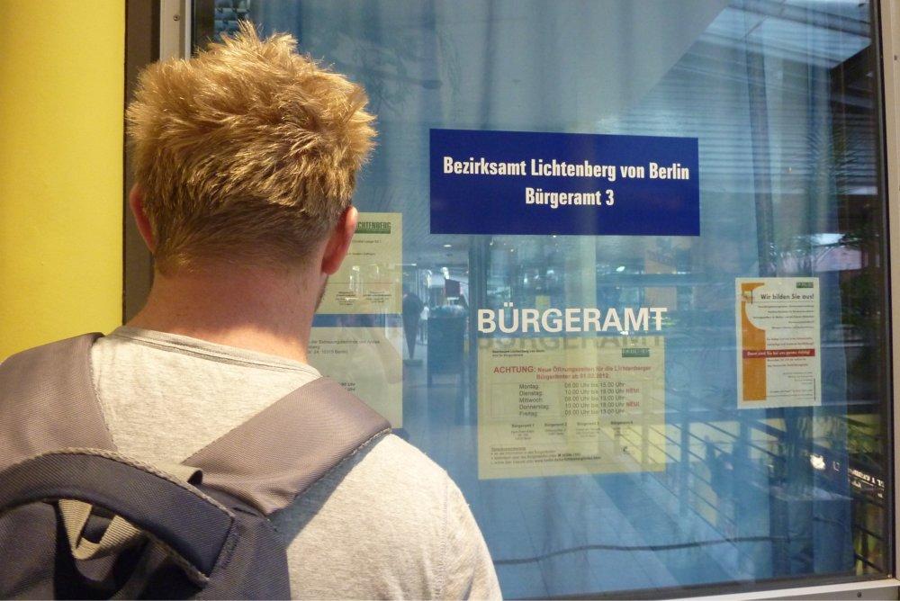 Die Registrierung beim Bürgeramt