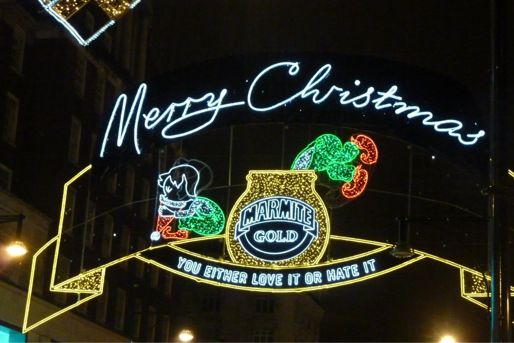 Weihnachtsbeleuchtung von Marmite
