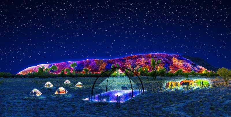 Festival-Installation in Alice Springs