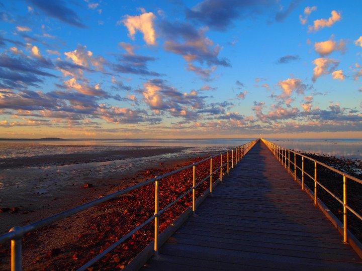 Port Germein Pier bei Sonnenaufgang