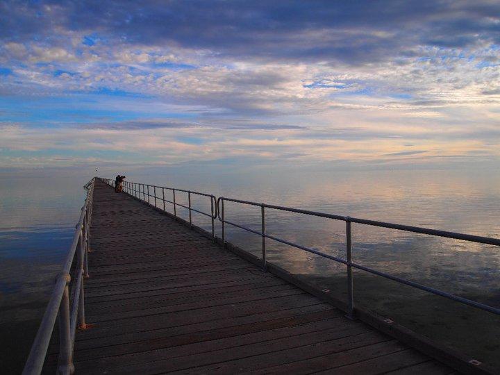 Horizont und Meer verschmelzen beim Port Germein Pier