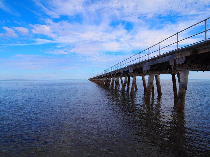 Kein Ende in Sicht beim Port Germein Pier