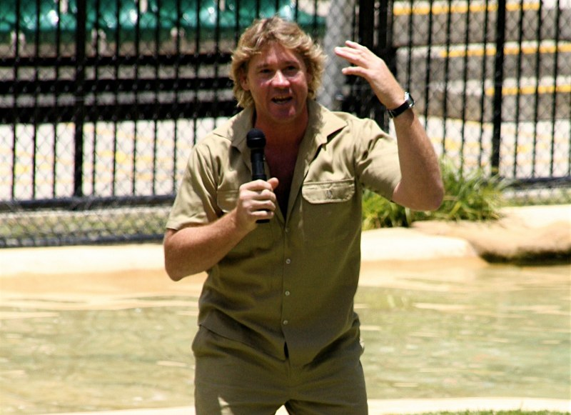 By Richard Giles aka rich 115 - Cropped version of Image:Steve Irwin.jpg (from Flickr), CC BY 2.0, https://commons.wikimedia.org/w/index.php?curid=1137605