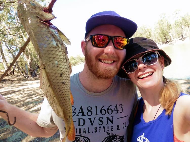 Beim Angeln am Murray River