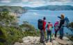 Blick vom Cape Pillar in Richtung Port Arthur