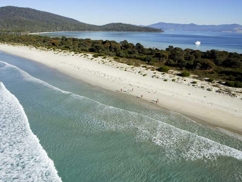 Beliebtes Ziel die kleine Insel Maria Island bei Tasmanien