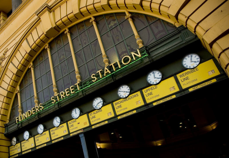 Die Flinders Street Station in Melbourne. © Foto: Tourism Victoria