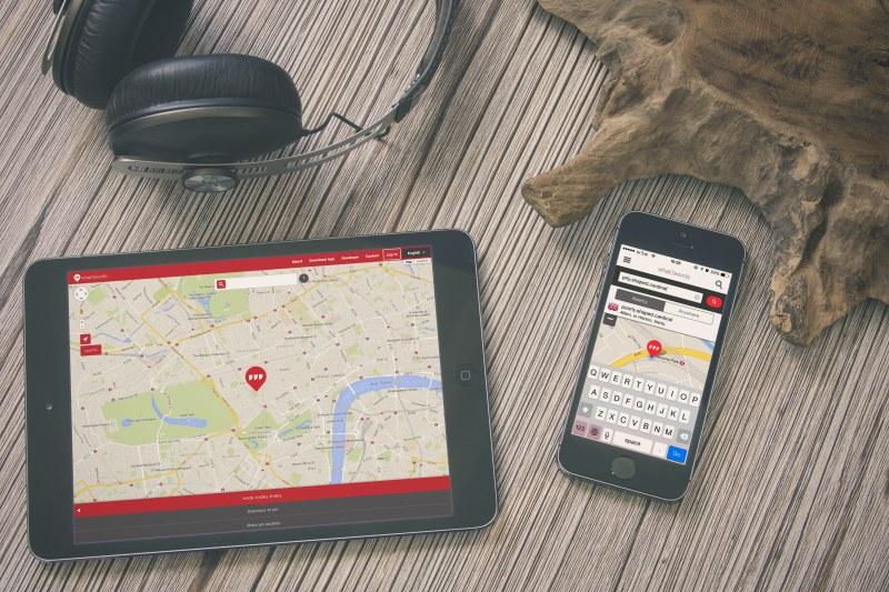 what3words Karte für Laptop, Tablet und Smartphone
