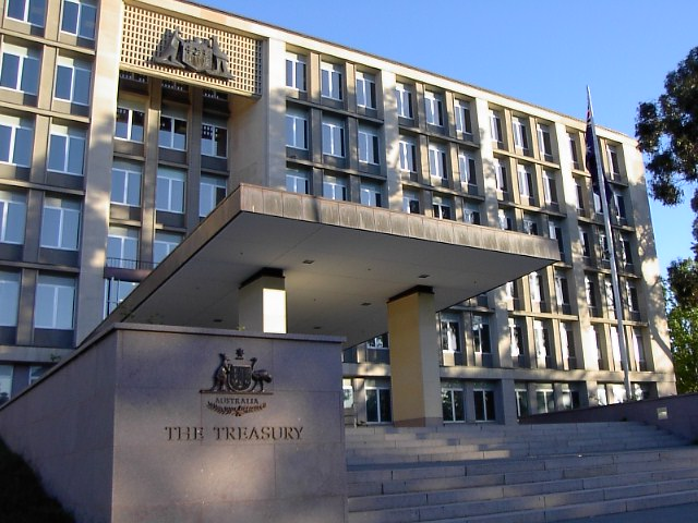 Der Arbeitsplatz des Australischen Treasurers Scott Morrison.