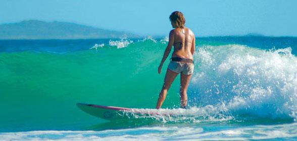Surfen an der Küste von New South Wales